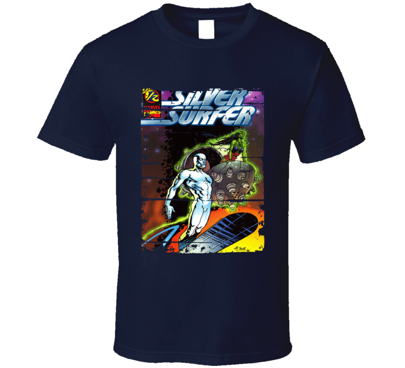 Silver Surfer Cartoon Fan Worn Look Animated Tv Series T Shirt