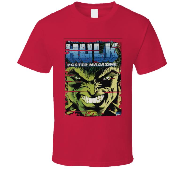 The Incredible Hulk Classic Cartoon Worn Look Tv Show Cool T Shirt
