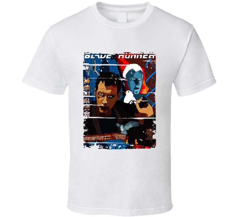 Blade Runner Cartoon Worn Look Animated Tv Series T Shirt
