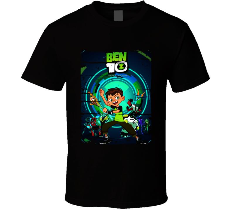 Ben 10 Cartoon Worn Look Animated Tv Series T Shirt