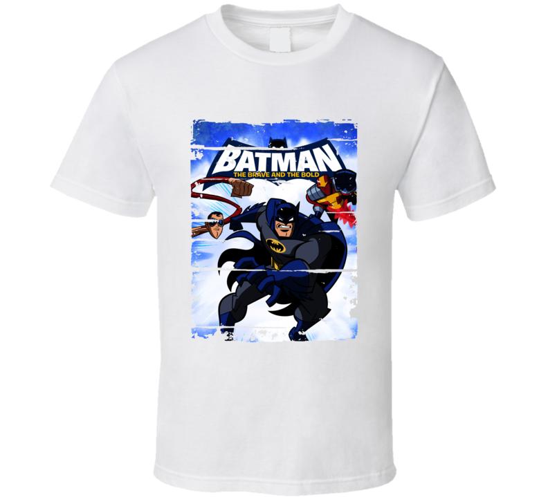 Batman Brave And The Bold Cartoon Worn Look Animated Tv Series T Shirt