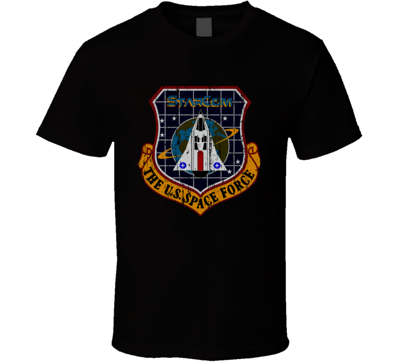 Starcom The U.s. Space Force Cartoon Worn Look Animated Series T Shirt