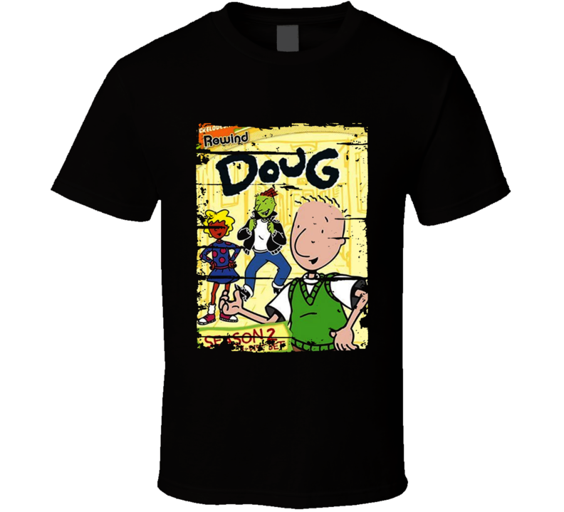 Doug Cartoon Worn Look Animated Tv Series T Shirt