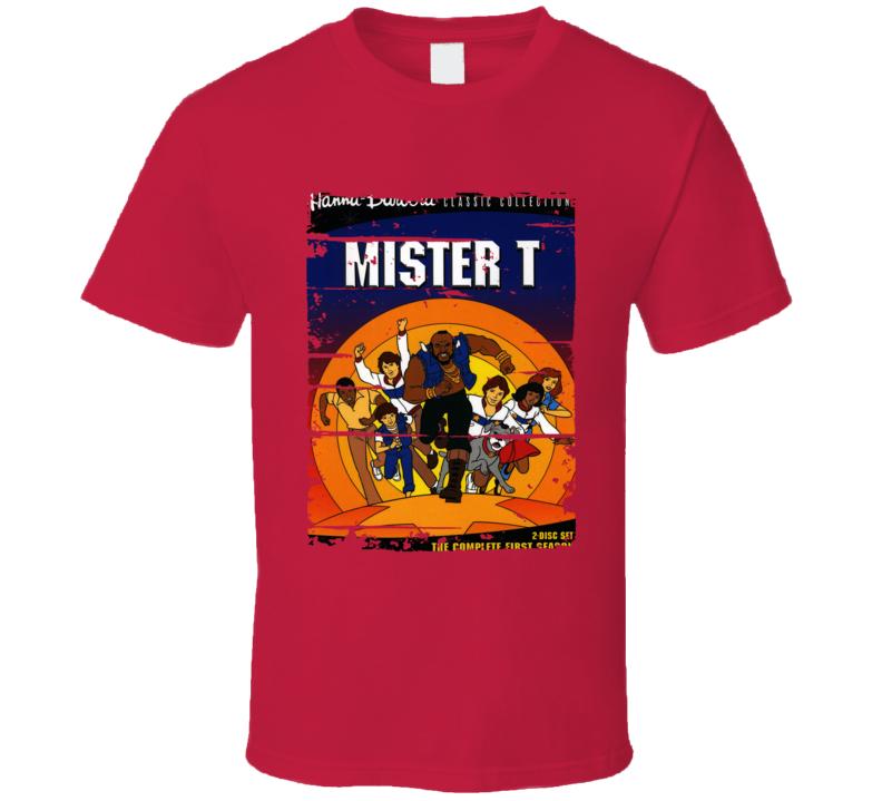 Mister T Cartoon Worn Look Animated Tv Series T Shirt