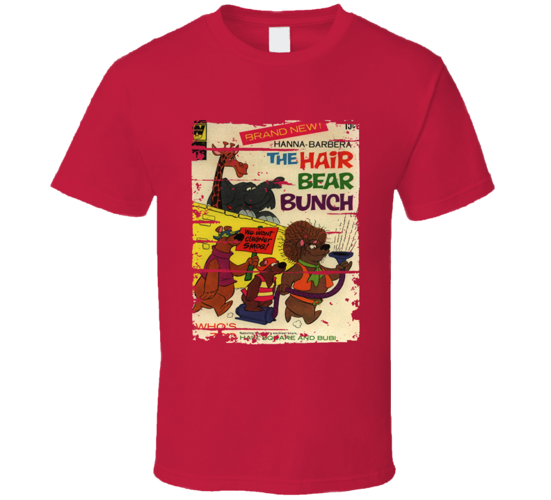 Hair Bear Bunch Cartoon Worn Look Animated Tv Series T Shirt