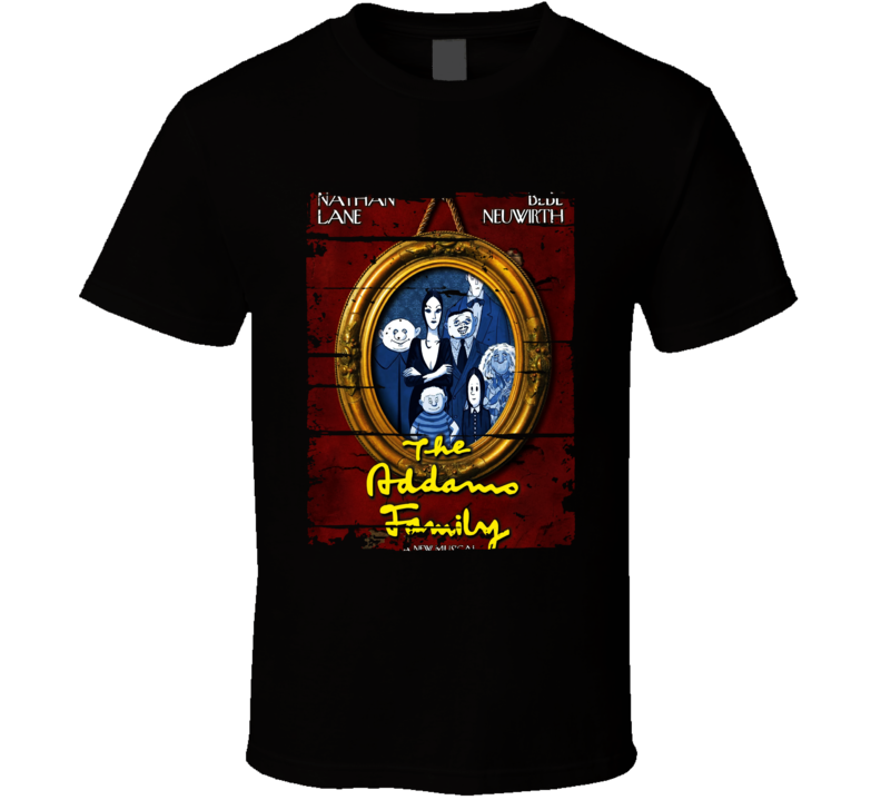 Addams Family Cartoon Worn Look Animated Tv Series T Shirt