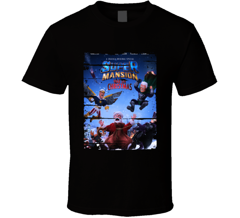 Supermansion War On Christmas Cartoon Worn Looktv Series T Shirt
