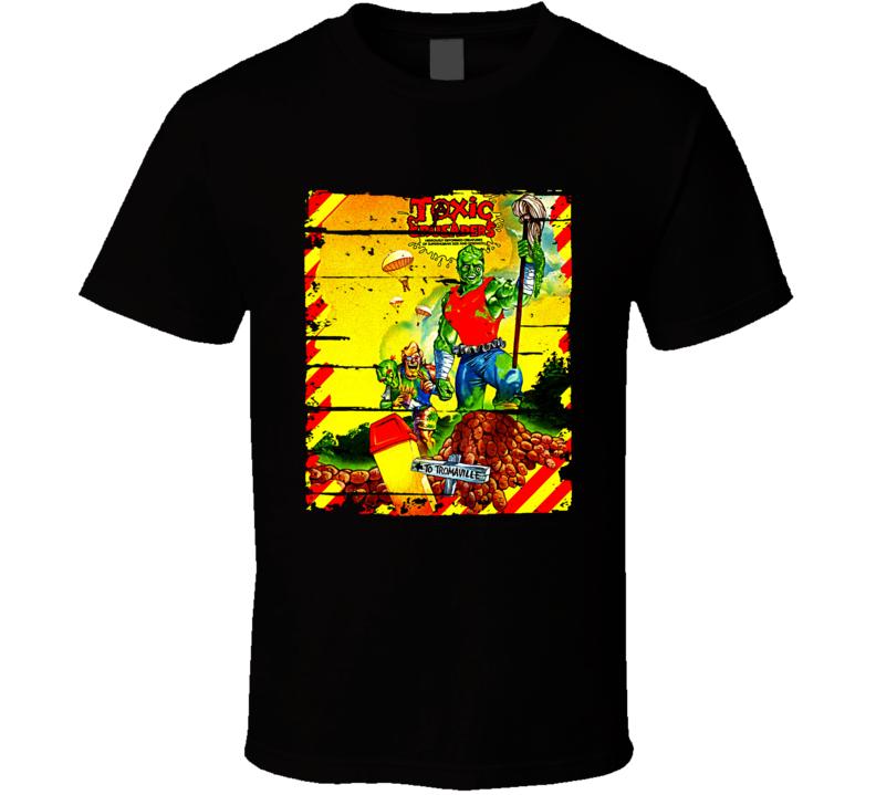 Toxic Crusaders Cartoon Worn Look Animated Tv Series T Shirt