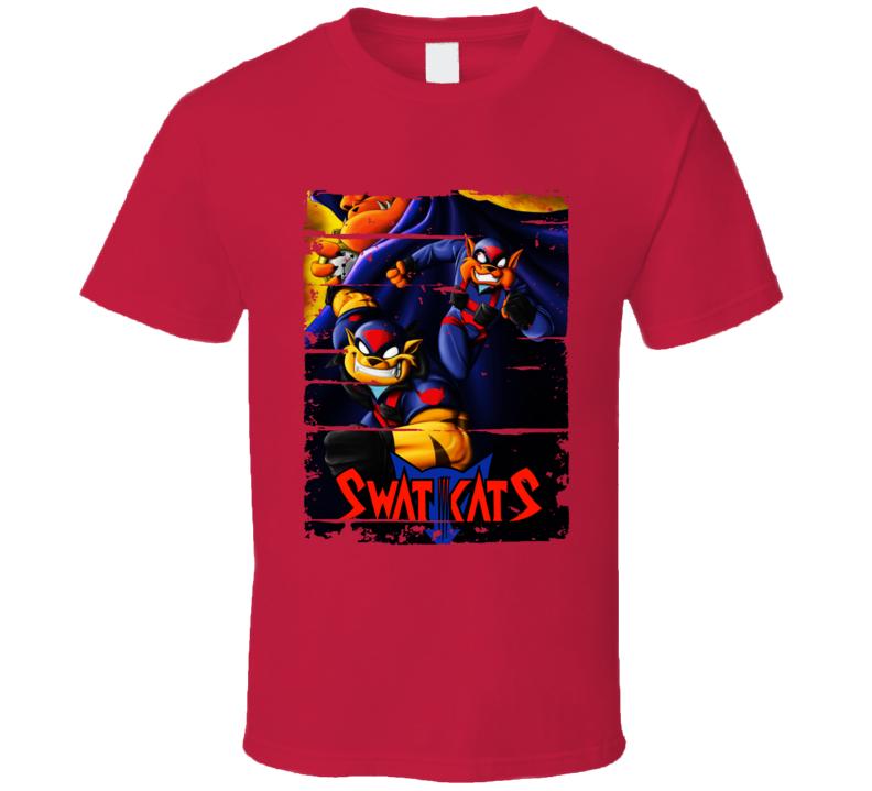 Swat Kats Classic Cartoon Worn Look Animated Tv Series T Shirt
