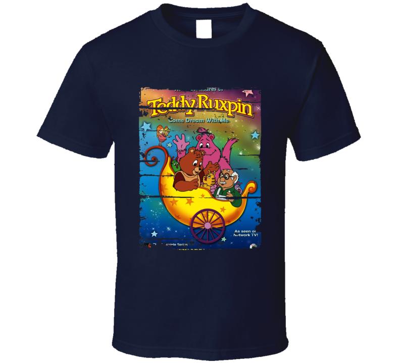 Adventures Teddy Ruxpin Cartoon Worn Look Animated Tv Series T Shirt