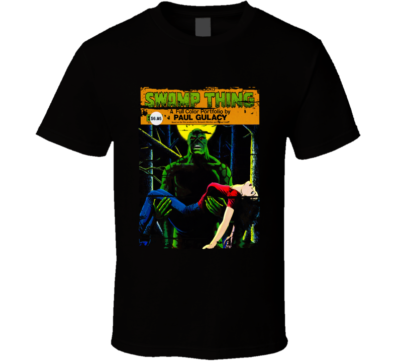 Swamp Thing Classic Cartoon Worn Look Animated Tv Series T Shirt