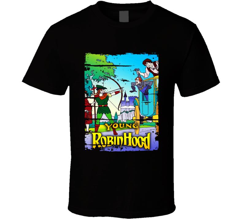 Young Robinhood Cartoon Worn Look Animated Tv Series T Shirt