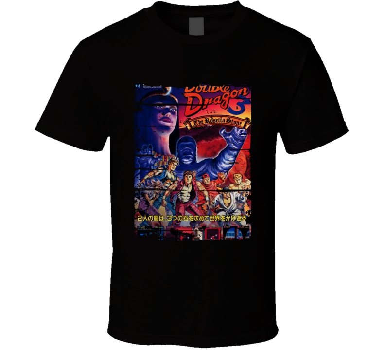Double Dragon Classic Cartoon Worn Look Animated Tv Series T Shirt
