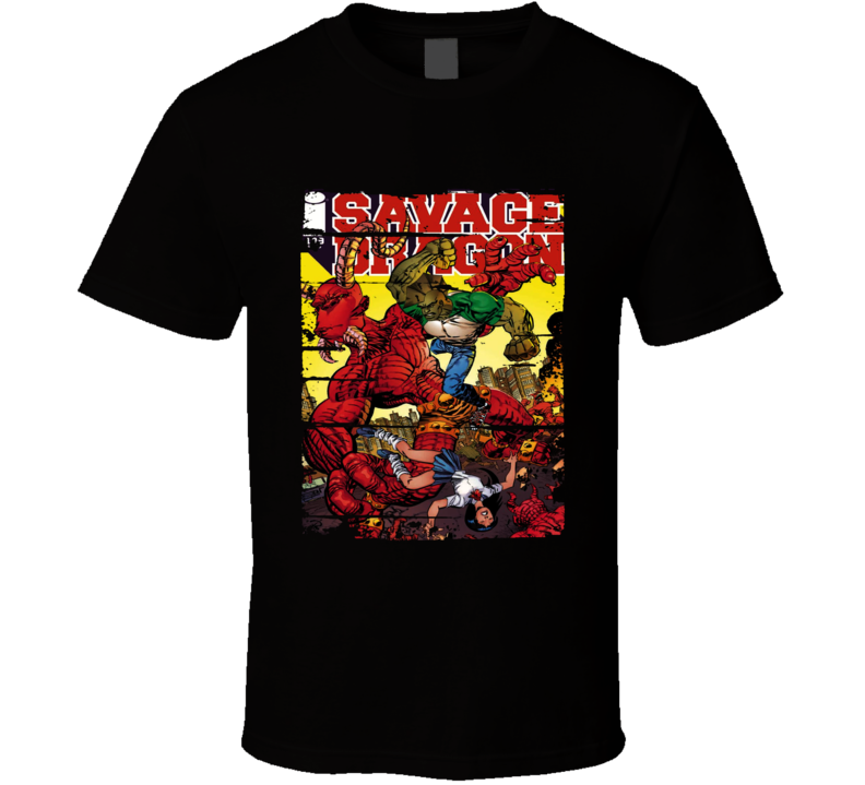 Savage Dragon Classic Cartoon Worn Look Animated Tv Series T Shirt