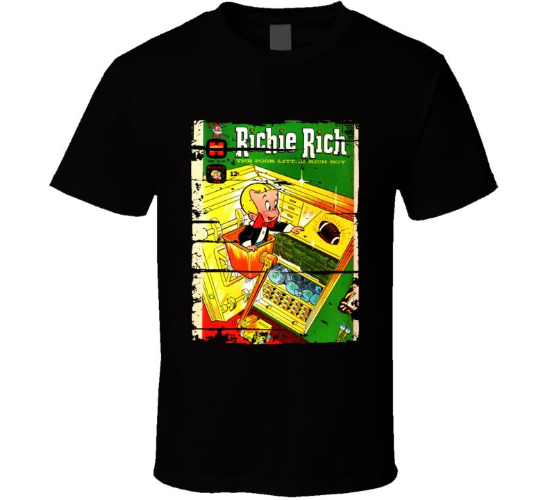 Richie Rich Cartoon Worn Look Animated Tv Series T Shirt