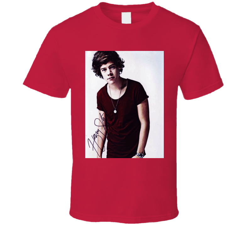 Harry Styles One Direction Trending Celebrity Autographed T Shirt