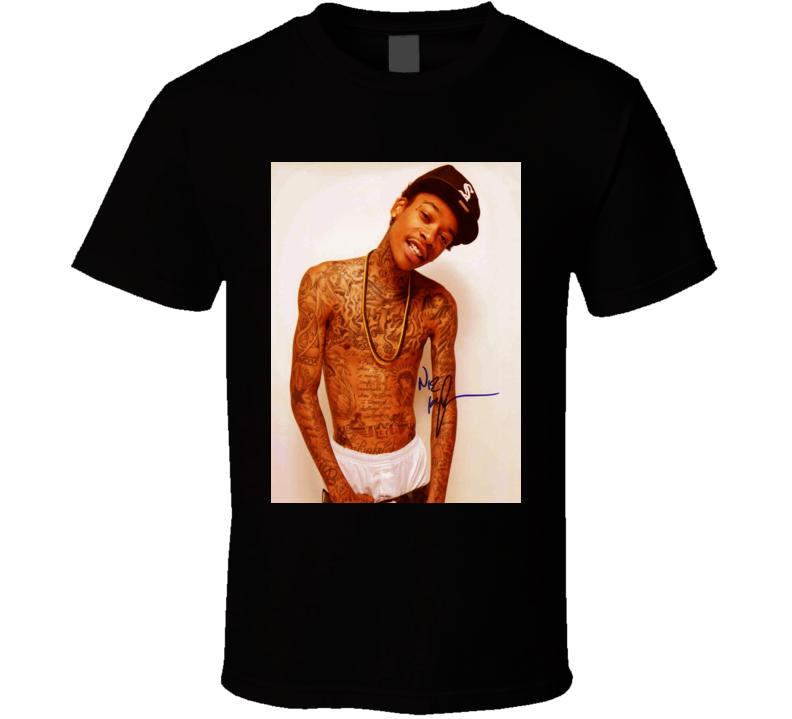 Wiz Khalifa Signature Trending Celebrity Autographed T Shirt