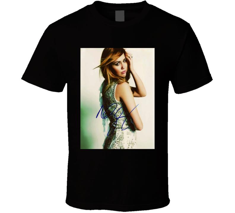 Miley Cyrus Signature Trending Celebrity Autographed T Shirt