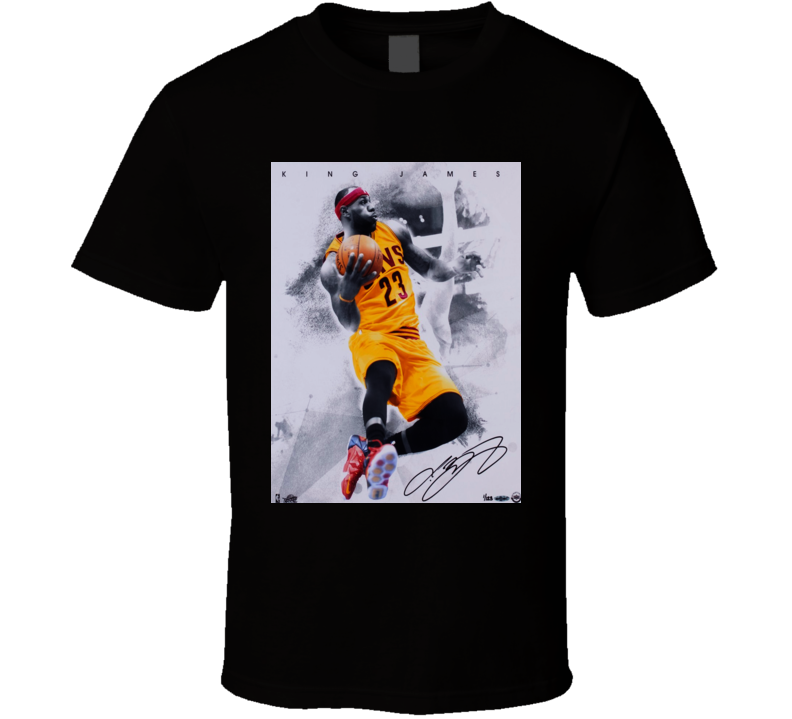 Lebron King  James Signature Trending Celebrity Autographed T Shirt