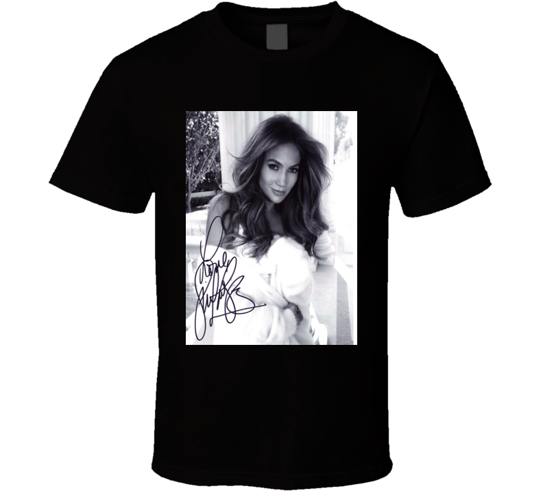 Jennifer Lopez Signature Trending Celebrity Autographed T Shirt