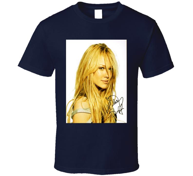 Hilary Duff Signature Trending Celebrity Autographed T Shirt