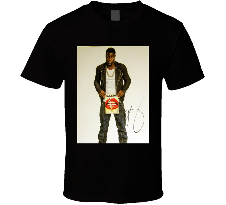 Kevin Hart Comedian Signature Trending Celebrity Autographed T Shirt