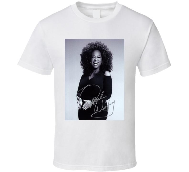 Oprah Winfrey Signature Trending Celebrity Autographed T Shirt