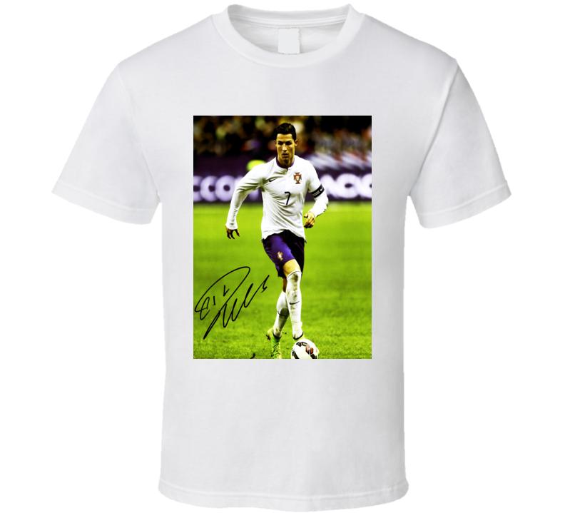 Cristiano Ronaldo Footballer Trending Celebrity Autographed T Shirt