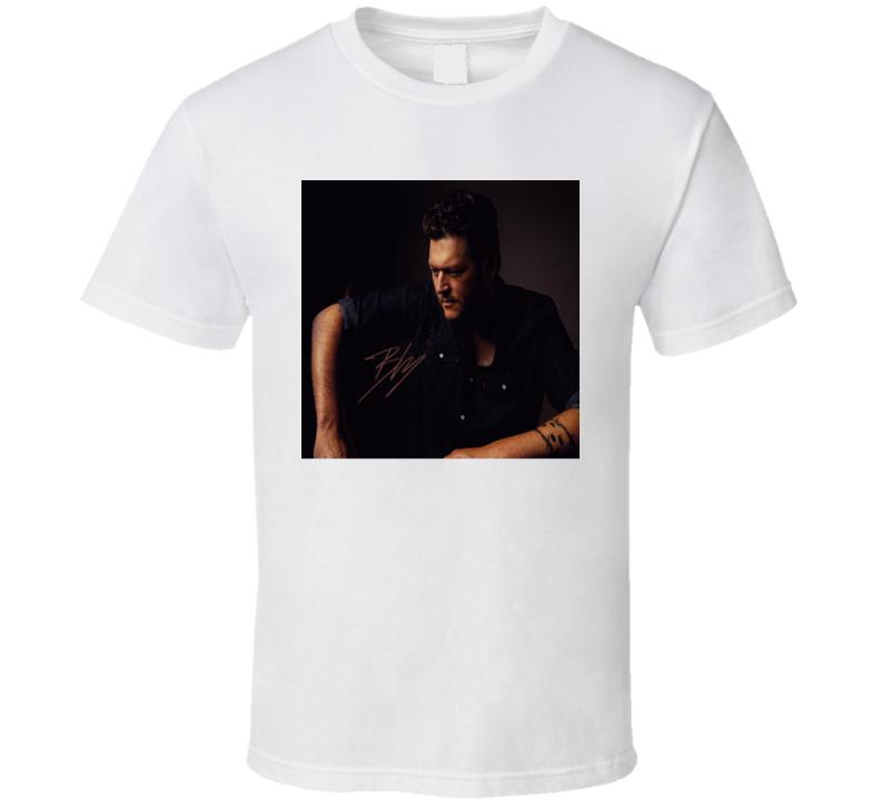 Blake Shelton Signature Trending Celebrity Autographed T Shirt