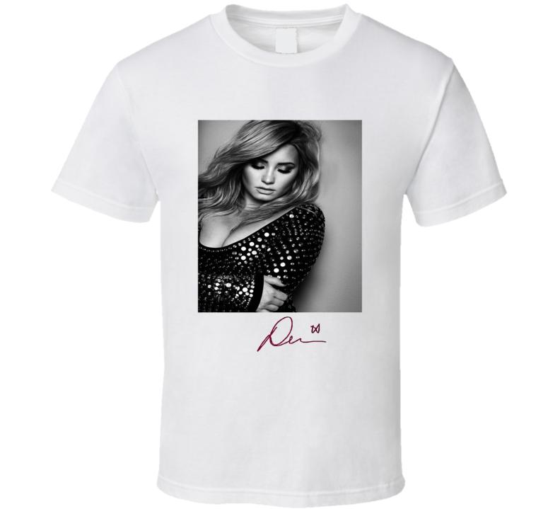 Demi Lovato Signature Trending Celebrity Autographed T Shirt