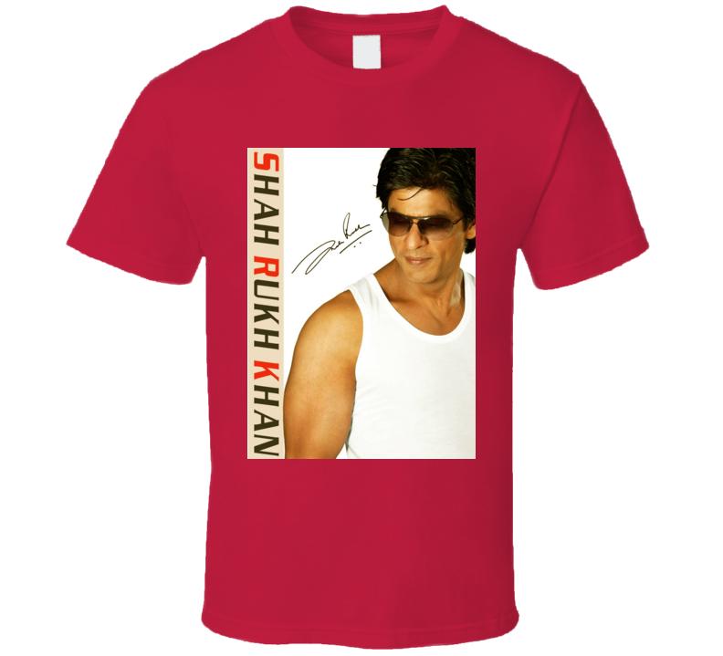 Shah Rukh Khan Signature Trending Celebrity Autographed T Shirt