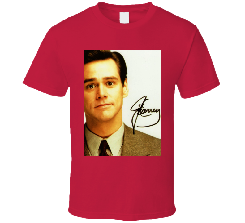 Jim Carrey Signature Trending Celebrity Autographed T Shirt