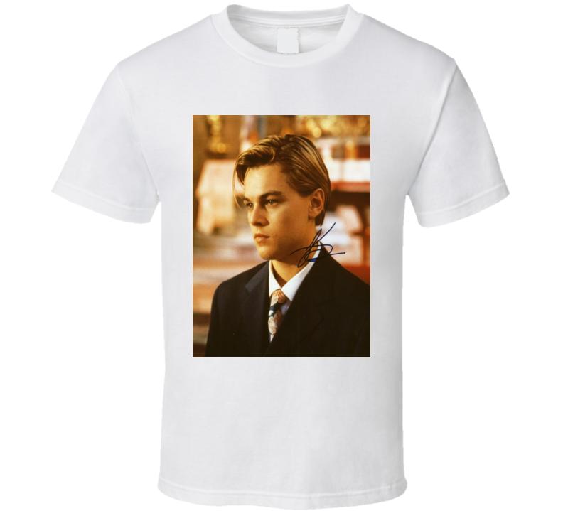 Leonardo Dicaprio Signature Trending Celebrity Autographed T Shirt