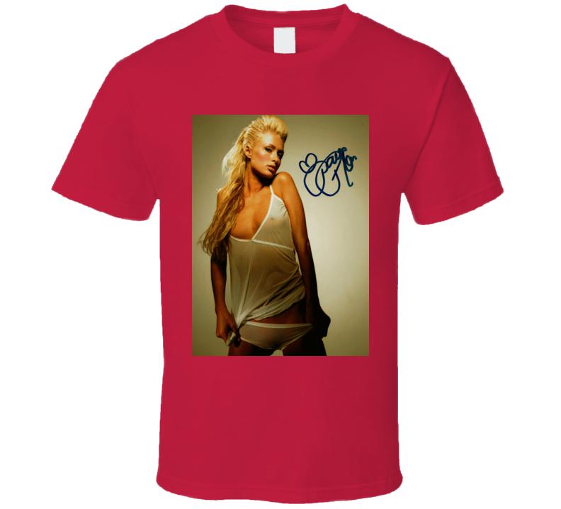 Paris Hilton Signature Trending Celebrity Autographed T Shirt