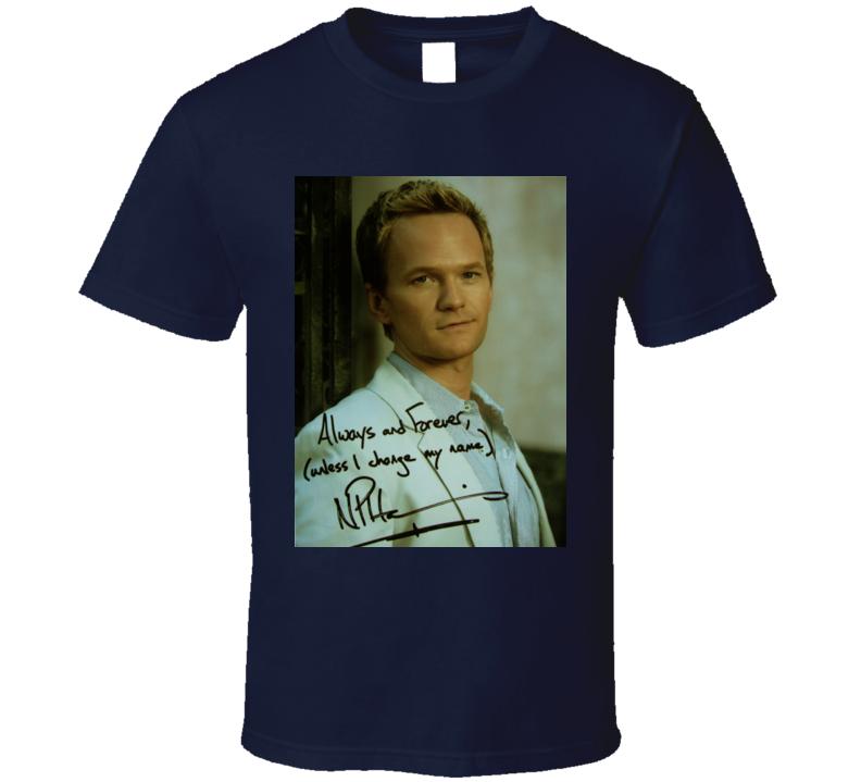Neil Patrick Harris Signature Trending Celebrity Autographed T Shirt