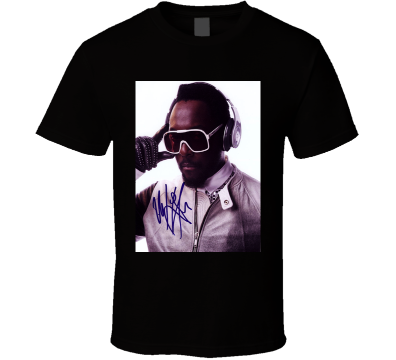 Will.i.am Signature Trending Celebrity Autographed T Shirt