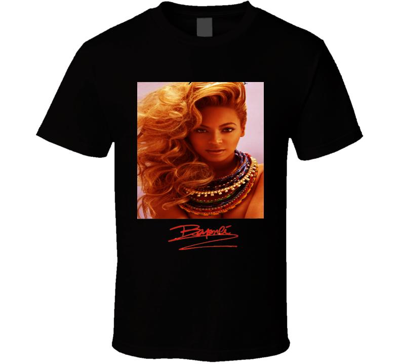 Beyoncé Knowles Signature Trending Celebrity Autographed T Shirt
