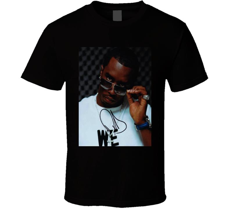 Sean Combs Signature Trending Celebrity Autographed T Shirt