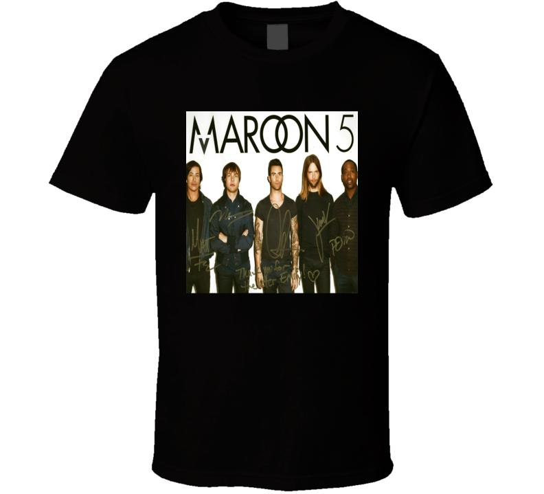 Maroon 5 Signature Trending Celebrity Autographed T Shirt