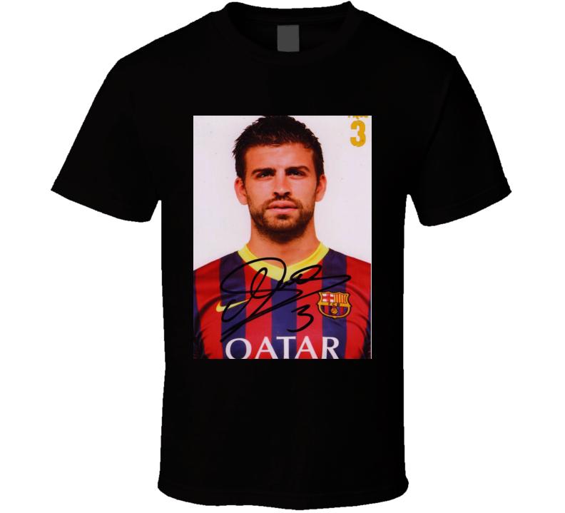 Gerard Piqué Signature Trending Celebrity Autographed T Shirt