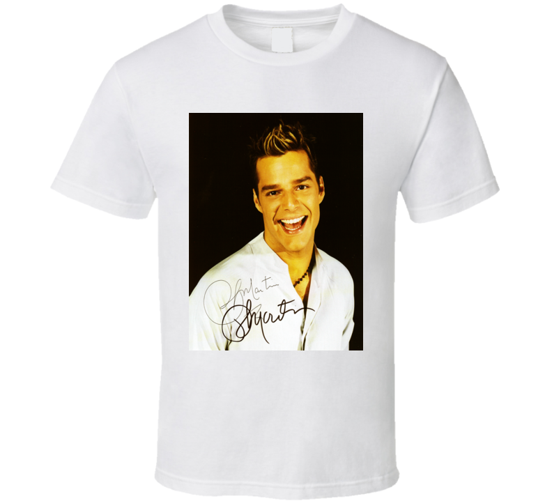 Ricky Martin Signature Trending Celebrity Autographed T Shirt