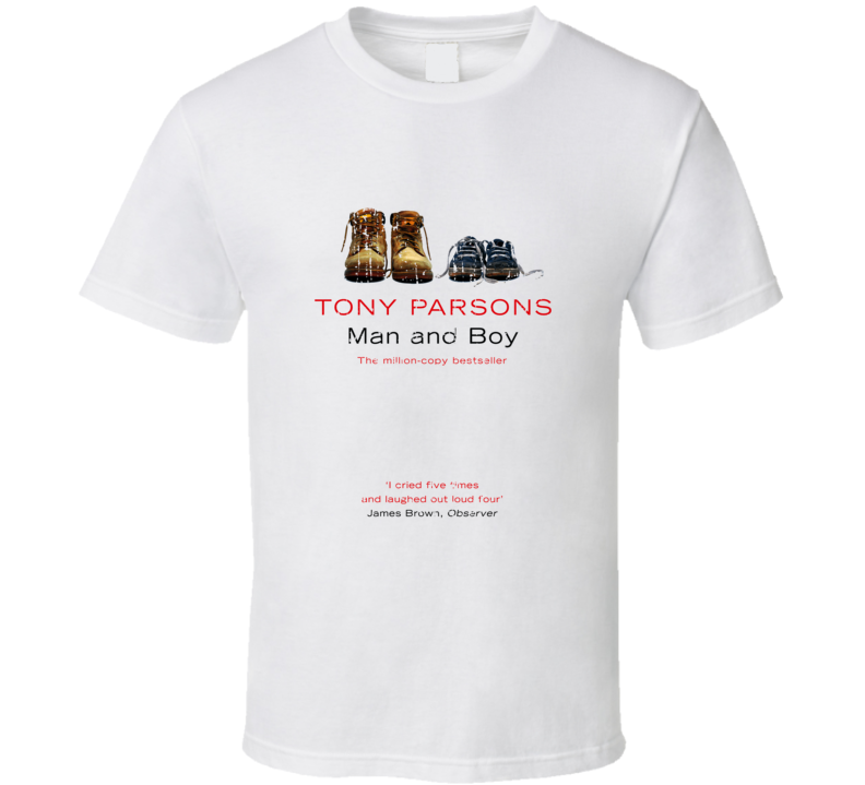 Man And Boy Book Lover Worn Look Awesome Literary T Shirt
