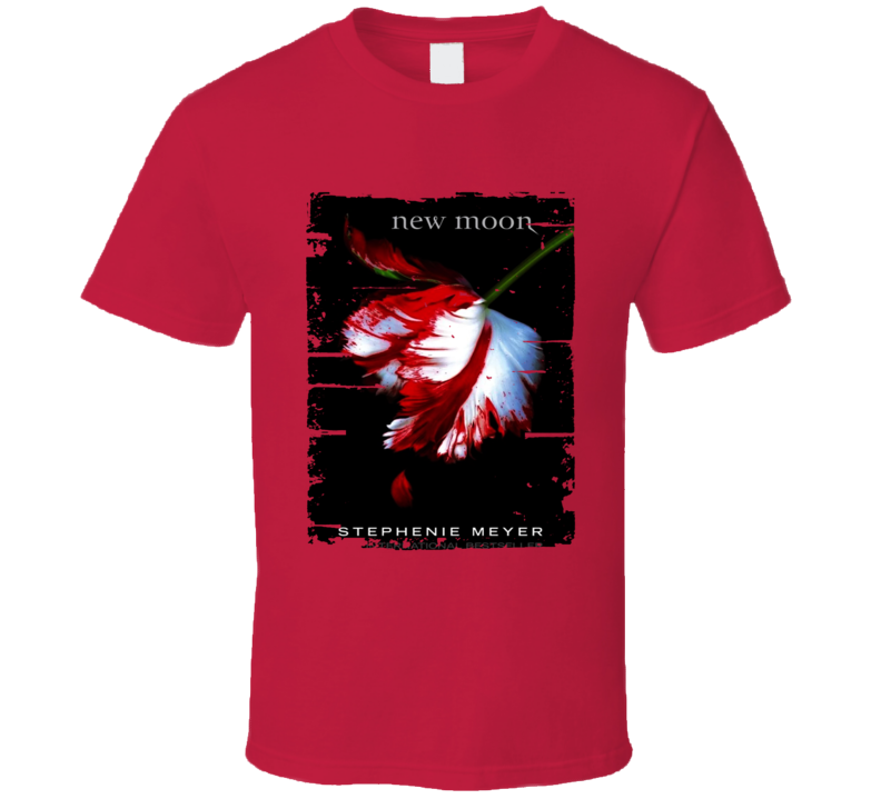 New Moon Book Lover Worn Look Awesome Literary T Shirt