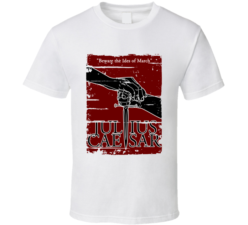 Julius Caesar Book Lover Worn Look Awesome Literary T Shirt