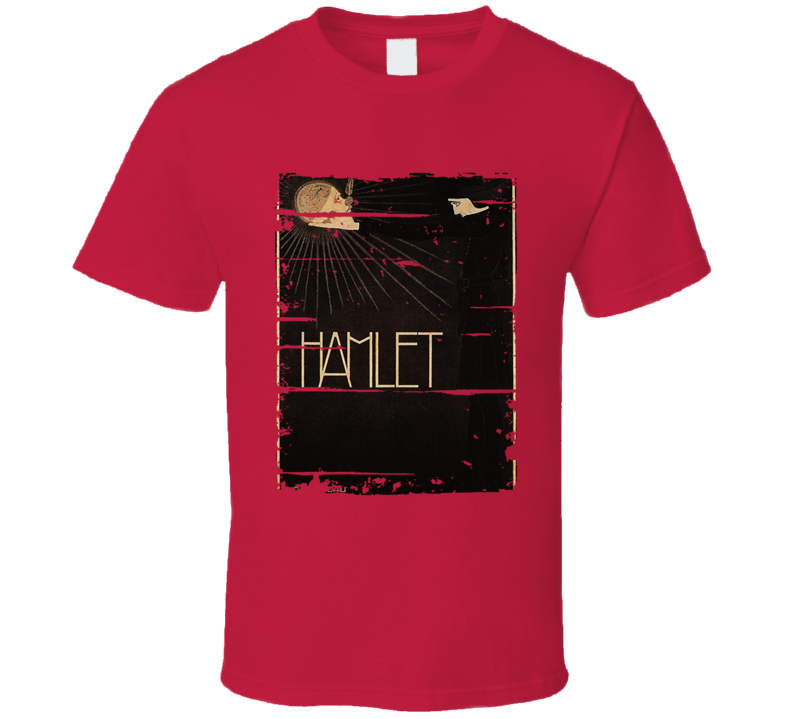 Hamlet Theatre Cover Book Lover Worn Look Awesome Literary T Shirt
