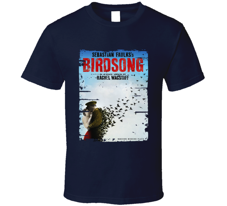 Birdsong Book Lover Worn Look Awesome Literary T Shirt
