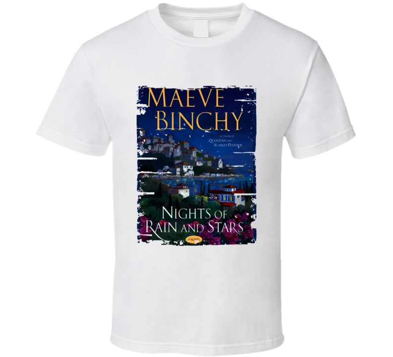 Nights Of Rain And Stars Book Lover Worn Look Awesome Literary T Shirt