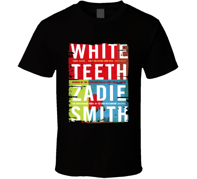White Teeth Book Lover Worn Look Awesome Literary T Shirt