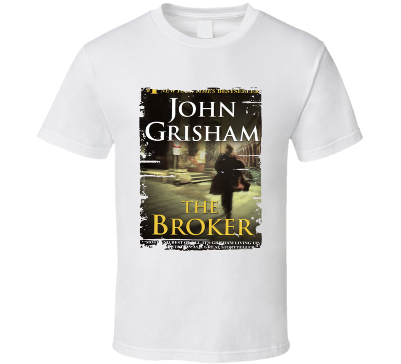 The Broker Book Lover Worn Look Awesome Literary T Shirt