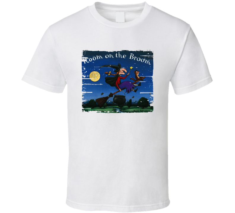 Room On The Broom Book Lover Worn Look Awesome Literary T Shirt